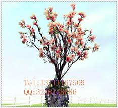 Cheap Fake Flowers China Manufacturer Cheap Artificial Magnolia Tree Plastic