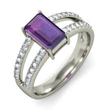 rose gold wedding set amethyst wedding rings amethyst engagement ring set amethyst wedding set