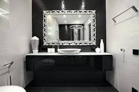 mirrors carved silver framed mirror with chrome tone for