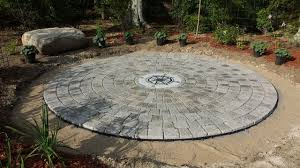 Round Patio Pavers by Circular Patio With Compass Rose Craftsman Patio Boston By