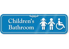 Bathroom Symbols Children U0027s Bathroom Sign With Boy And Handicap Symbols Sku