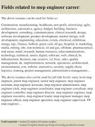 Sample Mechanical Engineer Resume by Top 8 Mep Engineer Resume Samples
