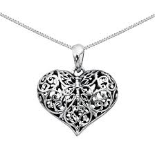necklace with heart pendant images Silver filigree heart necklace treasured accessories and gifts jpg