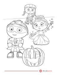 super why coloring page printable of super why coloring pages