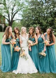 elegant peach and teal backyard wedding every last detail