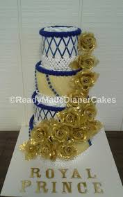 Blue And Gold Baby Shower Decorations by Royal Prince Elegant Themed Baby Shower Royal Blue And Gold 4 Tier