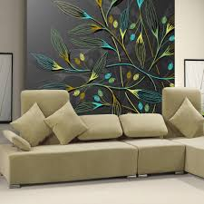 online get cheap abstract wall murals aliexpress com alibaba group 3d abstract wall murals dark leaves hd photo wallpaper for bedroom wall paper custom size 3d