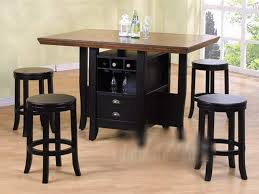 table with stools underneath casual dining room design with counter height kitchen tables wine