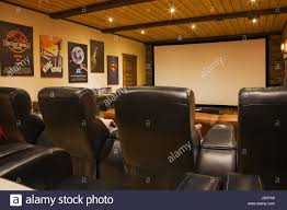 home theater leather chairs home theatre with leather chairs and wide screen inside a