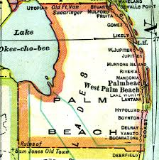 Map Of Florida East Coast Beaches by Florida Maps Palm Beach County