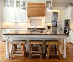 Black Countertop Kitchen Appliances Chrome Dome Pendant Light Wooden Bar Stools Black