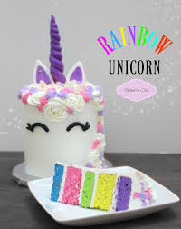 cake how to rainbow unicorn cake how to make a unicorn cake