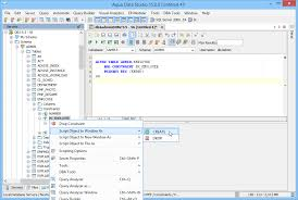 db2 alter table add column aqua data studio ibm db2 luw tool aquafold