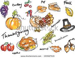 thanksgiving icon doodle vector illustration stock vector 153587519