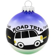 personalized road trip glass ornament bronner s