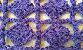 trellis pattern crochet stitches old english creations