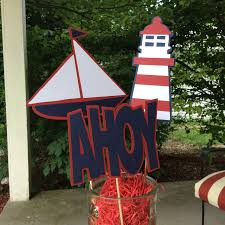 6 nautical centerpiece sticks nautical by decorateyourbigday