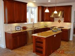 Small Kitchen With Island Design Ideas Small Kitchen Island Design Steel Pull Handles Laminate Mahogany