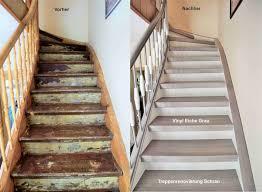 treppe mit vinyl bekleben treppenrenovierung arnstadt vinyl grau flur