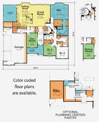 Color Floor Plan Our Approach Aubrey Homes Inc