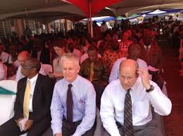 president koroma and attend thanksgiving service