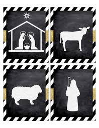 christmas nativity banner free printable paper trail design