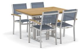latitude run farmington contemporary 5 piece dining set with leg
