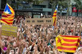 referendum zur unabhängigkeit katalonien streikt und demonstriert