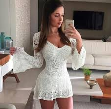 dress lace romper white dress lace dress bell sleeves white