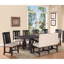 8 Pc Dining Room Set Modus Round Yosemite 5 Piece Round Dining Table Set With Wood