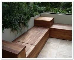 Wood Storage Benches Outdoor Waterproof Storage Bench Foter