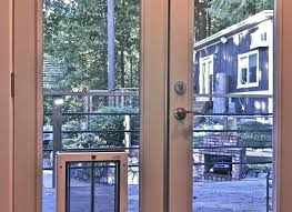 Wooden French Doors Exterior by Recommend Patio Dog Door Tags French Doors With Dog Door Sliding