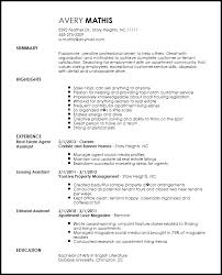 Real Estate Agent Resume Example by 37 Real Estate Agent Resume Samples To Help You Sample