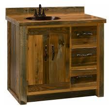 Reclaimed Wood Vanity Bathroom Bathroom Barn Wood Bathroom Vanity With Tisue Hanger And Sink