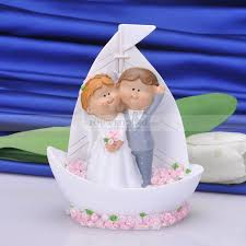 sailboat cake topper two tones porcelain sailboat wedding cake topper