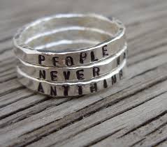stackable engraved rings sted custom silver stacking ring engraved