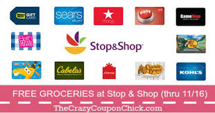 gift card offers up to 20 in free groceries gift card offers at stop shop thru