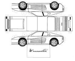 imagenes de ferraris para dibujar faciles recortables de coches de fórmula 1 ferrari testarosa dibujos para