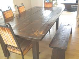 Rustic Dining Room Table With Bench Rustic Dining Room Table Plans High Is Also A Of Bench Seat