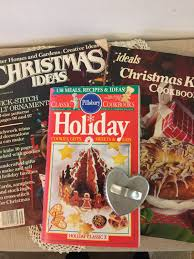 vintage christmas craft and baking books 1980s pillsbury