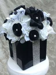 Black And Silver Centerpieces by Sale Black Gold And White Centerpiece Vases Black Gold And White