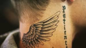 justin bieber angel wings tattoo photo