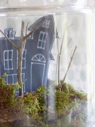 how to make a haunted terrarium for halloween hgtv