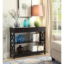 convenience concepts console table convenience concepts oxford espresso 1 drawer console table free