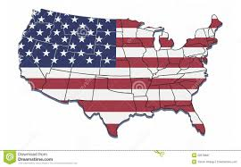 Usa Map State by Map Of Usa With State Borders And National Flag Stock Illustration