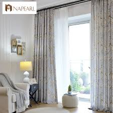 linen curtains modern printed bedroom curtains american country