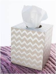 Diy Shabby Chic Home Decor by Diy Shabby Chic Chevron Tissue Box Cover Six Clever Sisters