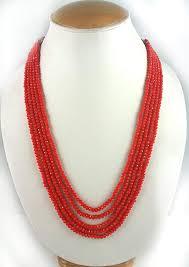 orange beaded necklace images Five layer orange color crystal beads necklace online shopping jpg