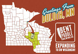 Wisconsin Breweries Map by Bent Paddle Brewing Co Paddles Into Western Wisconsin