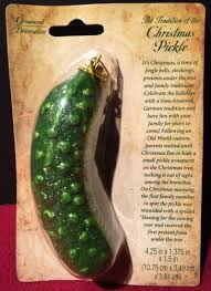 german tradition pickle ornament green styrofoam